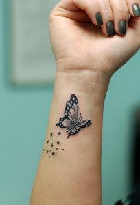 kelebek-dövme