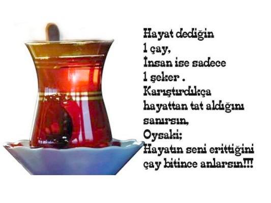 yazılı çay söz