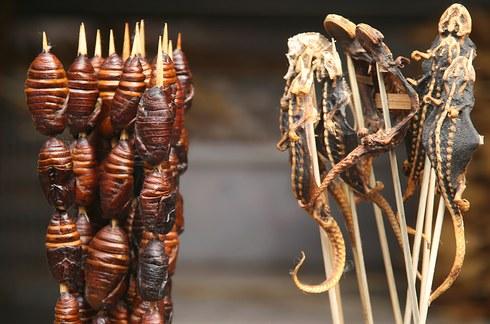 Çin'de böcek yemek