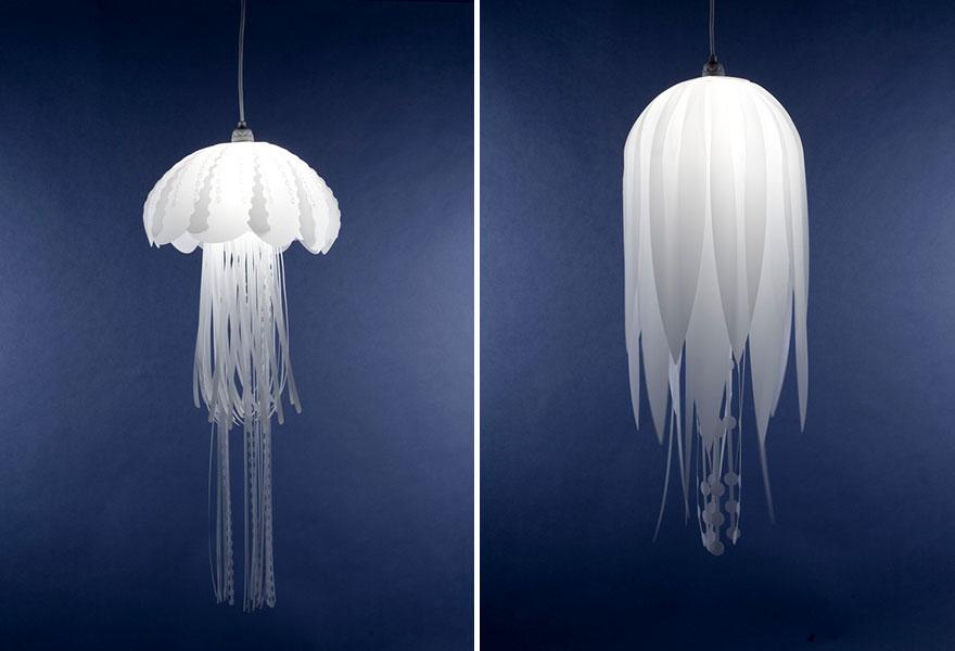 Deniz anası şeklinde lamba