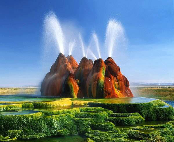 Fly Geyser, Nevada, Amerika