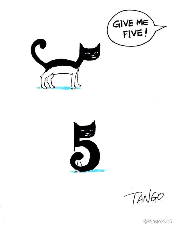 Hayvan komik illüstrasyon4