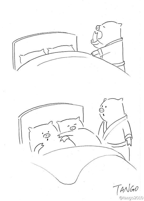 Hayvan komik illüstrasyon8