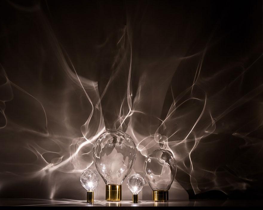 dalga şeklinde lamba