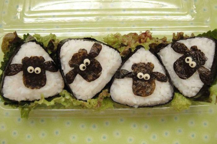 kuzu şeklinde sushi