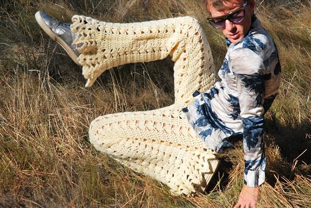 erkeklere örgü pantolon - iç çamaşırı-5
