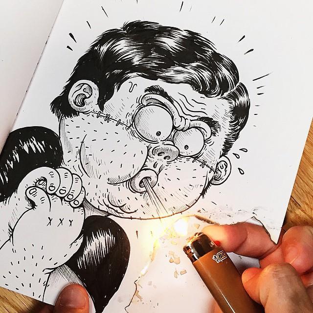 Çizdiği karaktere acı çektiren - Alex Solis-4874