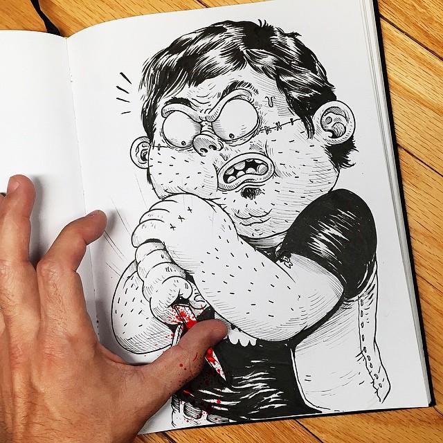 Çizdiği karaktere acı çektiren - Alex Solis-5154