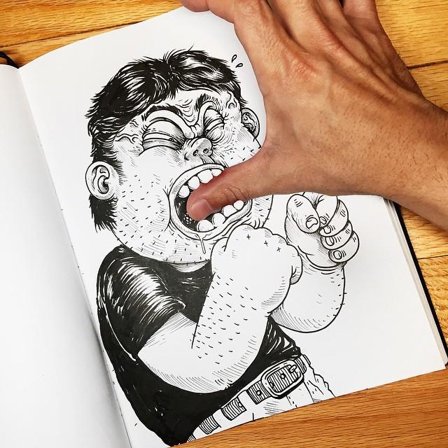 Çizdiği karaktere acı çektiren - Alex Solis-5484