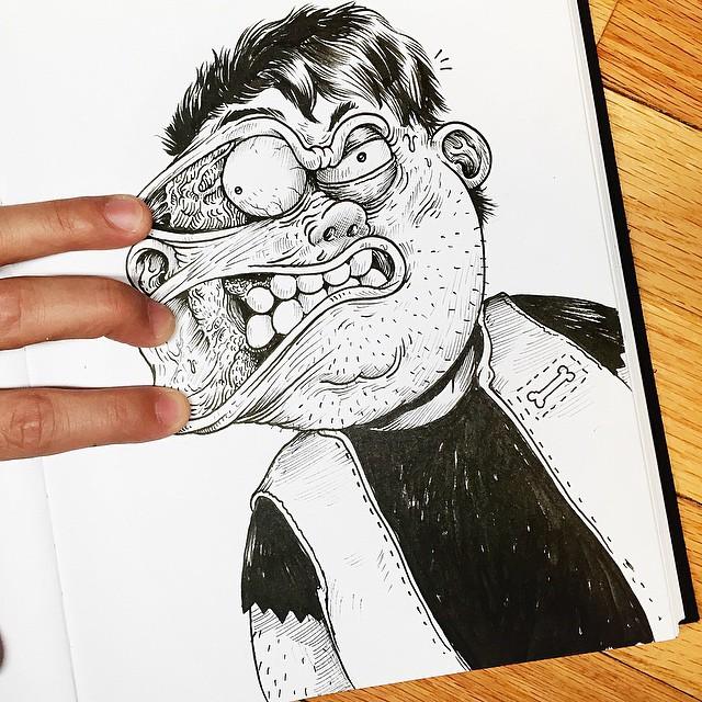 Çizdiği karaktere acı çektiren - Alex Solis-5487