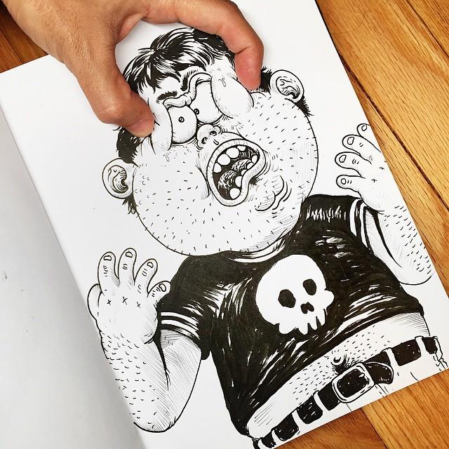 Çizdiği karaktere acı çektiren - Alex Solis