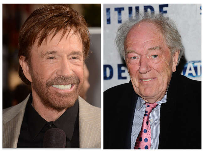 Chuck Norris and Michael Gambon