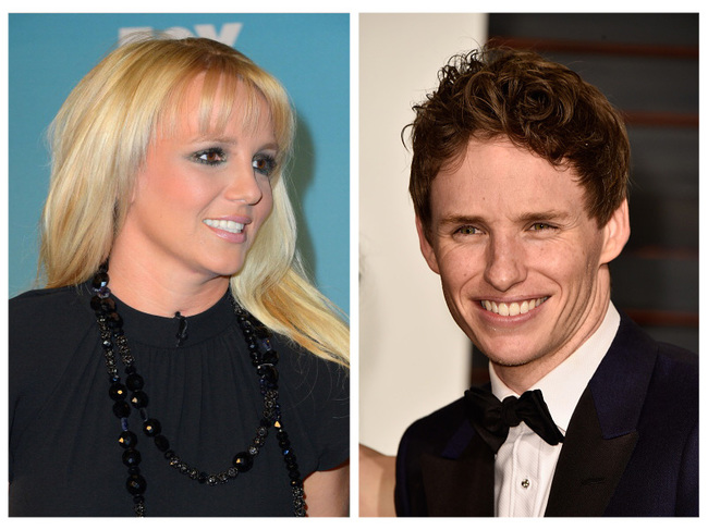 Eddie Redmayne and Britney Spears