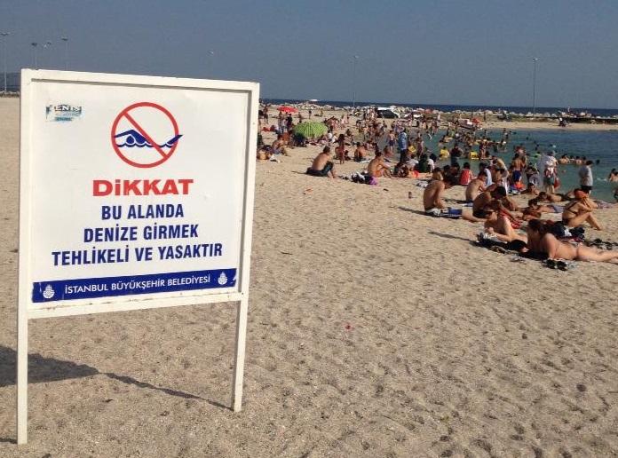 denize girmek yasak