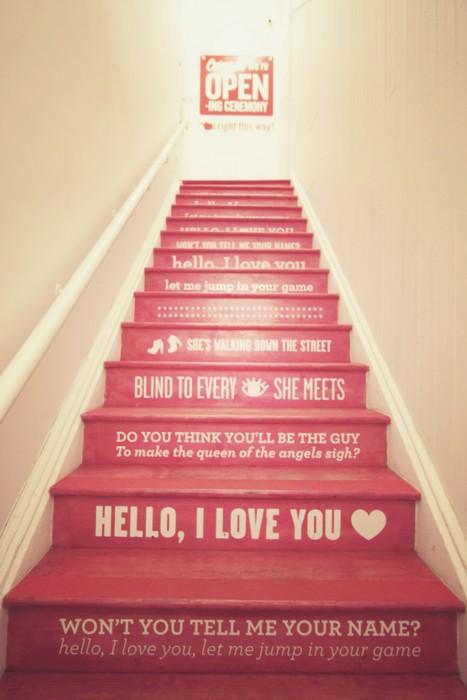 merdivene yazı yazmak