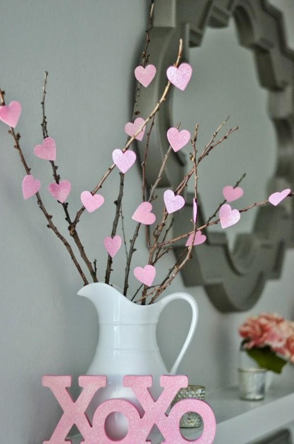 sevgililer günü kendin yap - kalpli ağaç