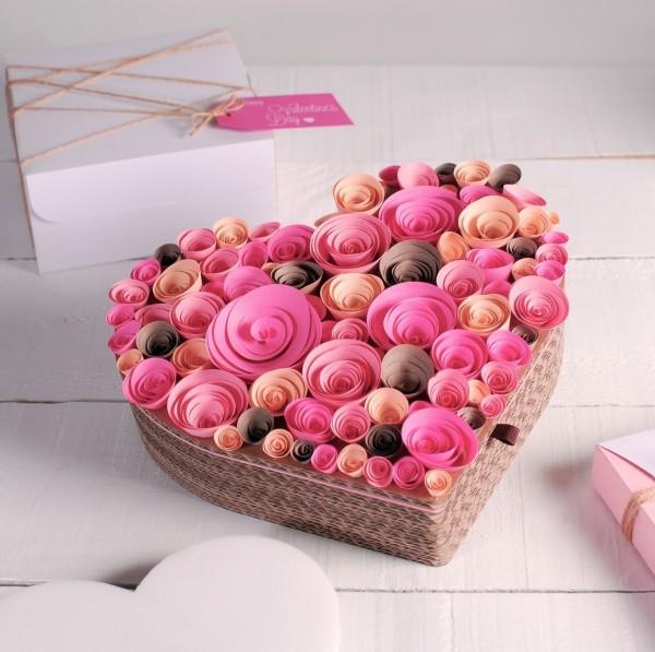 sevgililer günü kendin yap - kalpli kutu2