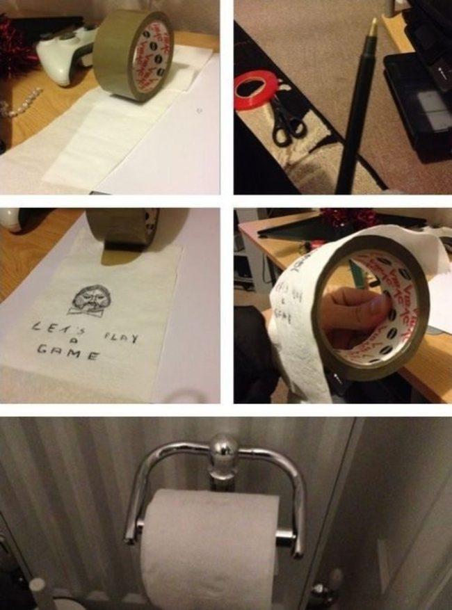 tuvalet kağıdı şakası