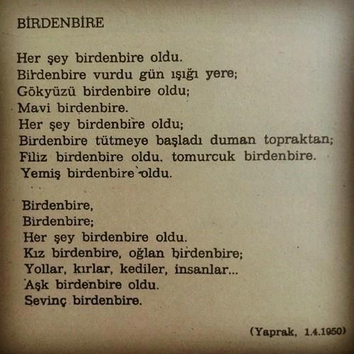 Orhan Veli Şiir