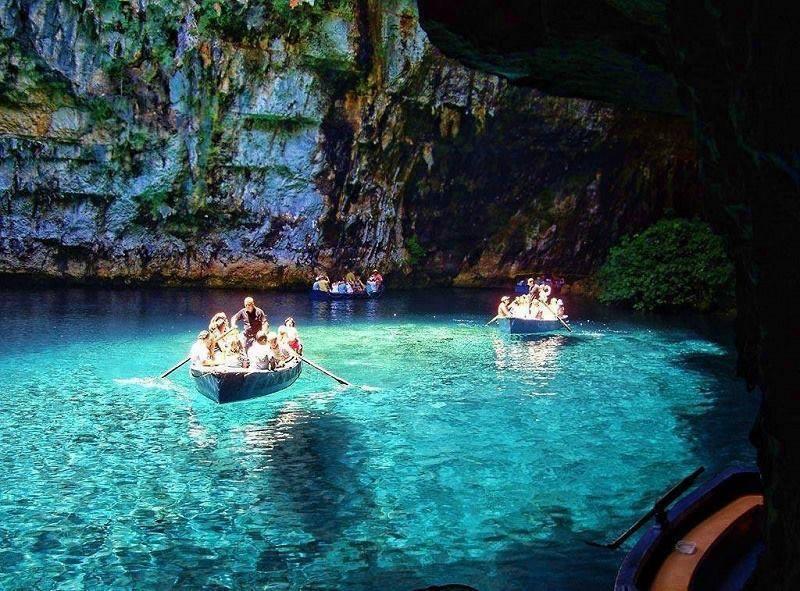 melissani mağarası yunan