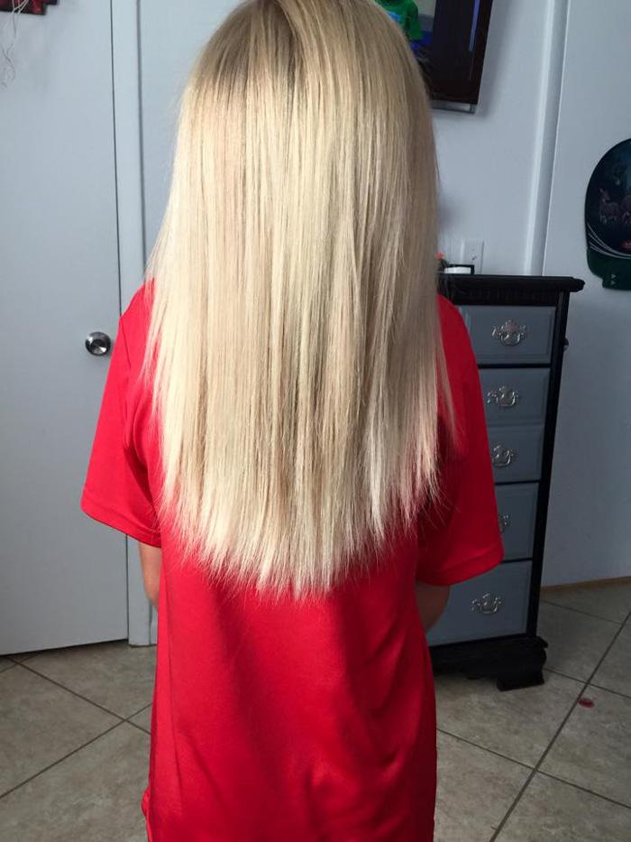 uzun saçlı çocuk