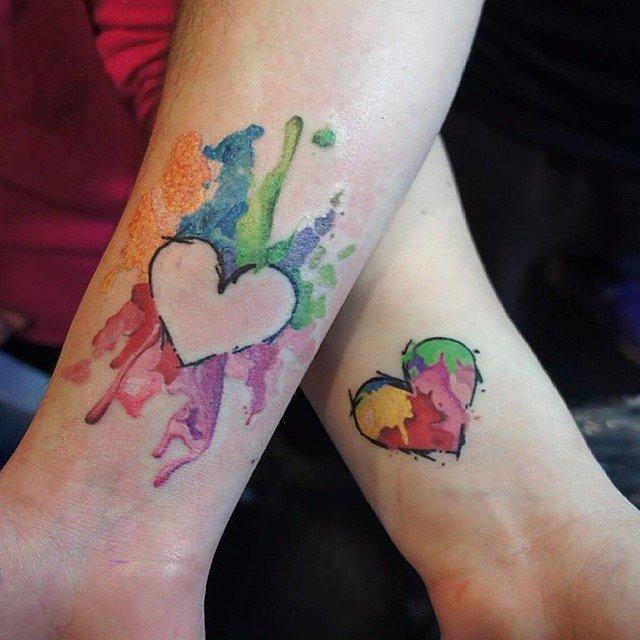 Çiftler için uyumlu dövme modelleri 12