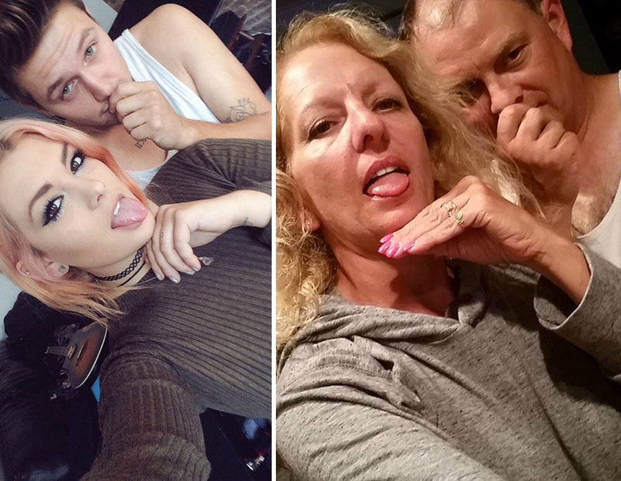 Kızlarının sevgilisiyle çektiği fotoğraflarla dalga geçen aile 3