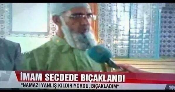 imamı secdede bıçakladı