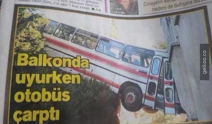 otobüs çarptı