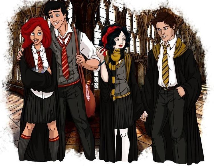 Ariel, Prens Eric, Pamuk Prenses, ve Prens Florian