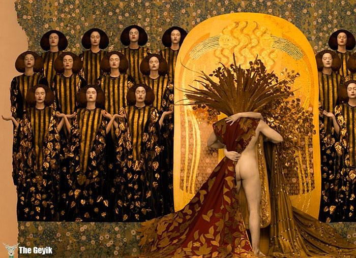 Gustav Klimt'in Erotik Eserleri Canlandı 6
