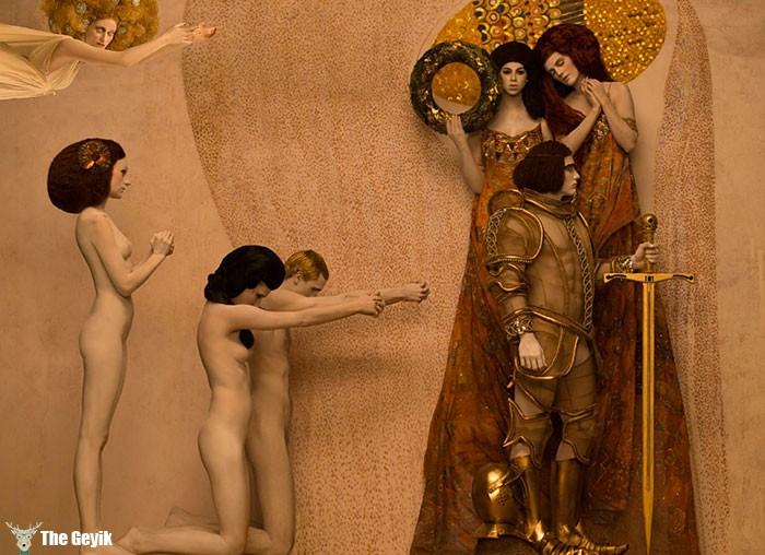 Gustav Klimt'in Erotik Eserleri Canlandı 8