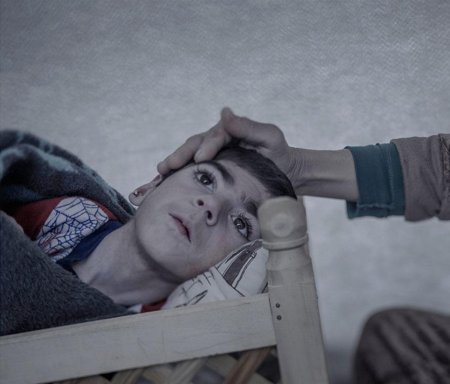 Suriyeli göçmen çocukların yattığı yerler magnus wennman 10