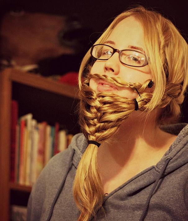 saçlarını sakal yapan sakallı kadınlar 7