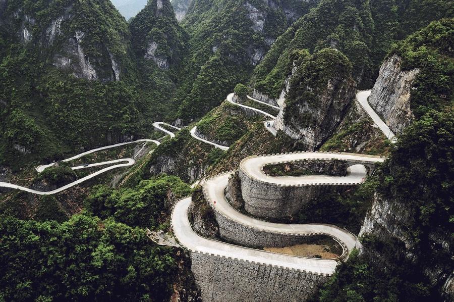 Tianmen Dağ Yolu, Çin