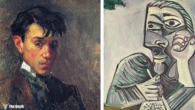 Picasso'nun kendini cizdigi resimler