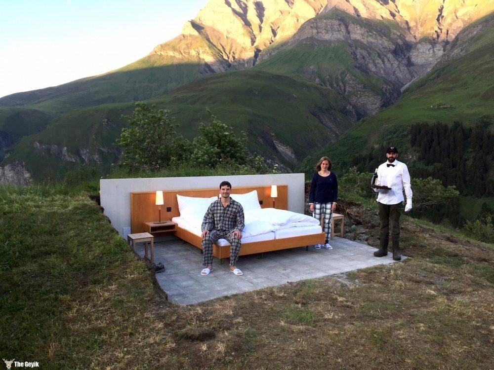 duvarları ve catisi olmayan otel isvicre 5